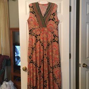 Maxi V Neck Plus Dress